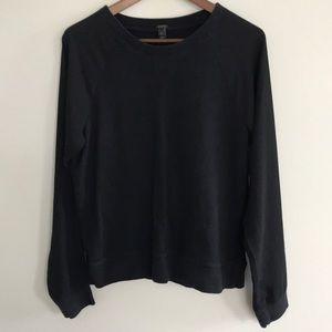 J. Crew Chiffon Sleeve Sweatshirt M